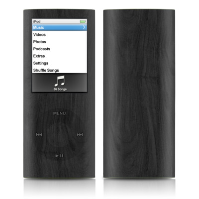 iPod nano (4G) Skin - Black Woodgrain