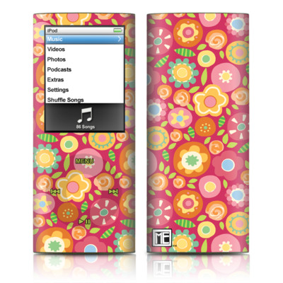 iPod nano (4G) Skin - Flowers Squished