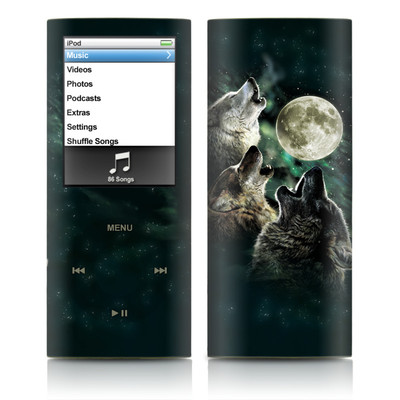 iPod nano (4G) Skin - Three Wolf Moon