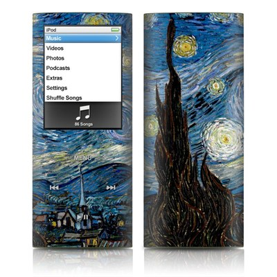 iPod nano (4G) Skin - Starry Night