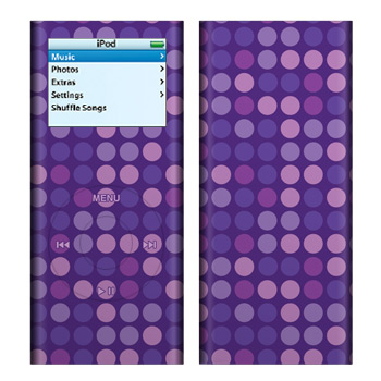 iPod nano (2G) Skin - Purple Dots