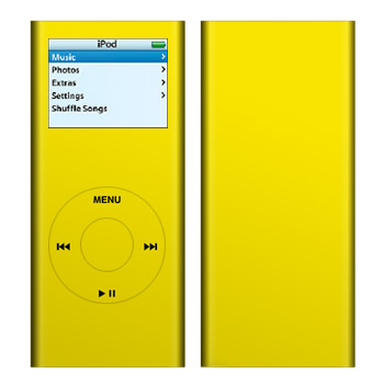 iPod nano (2G) Skin - Solid State Yellow