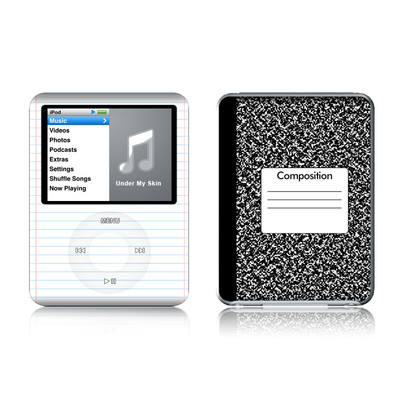 iPod nano (3G) Skin - Composition Notebook