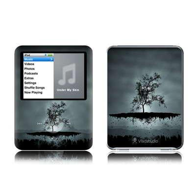 iPod nano (3G) Skin - Flying Tree Black