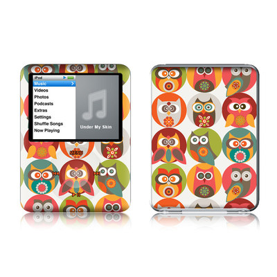 iPod nano (3G) Skin - Owls Family