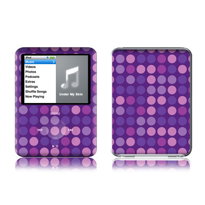 iPod nano (3G) Skin - Dots Purple