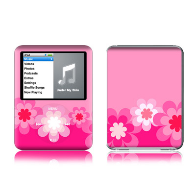 iPod nano (3G) Skin - Retro Pink Flowers