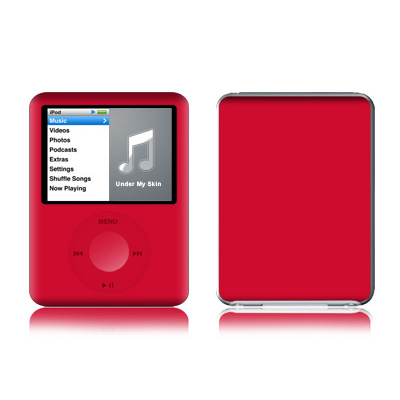 iPod nano (3G) Skin - Solid State Red