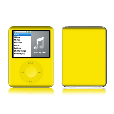 iPod nano (3G) Skin - Solid State Yellow