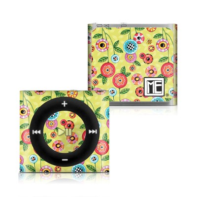 Apple iPod Shuffle 4G Skin - Button Flowers