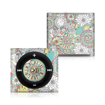 Apple iPod Shuffle 4G Skin - Faded Floral