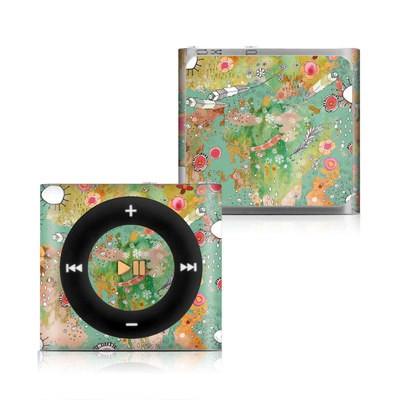 Apple iPod Shuffle 4G Skin - Feathers Flowers Showers