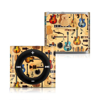 Apple iPod Shuffle 4G Skin - Guitar Collage