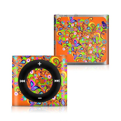 Apple iPod Shuffle 4G Skin - Orange Squirt