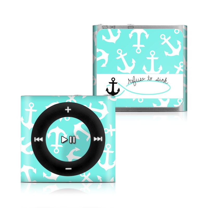 apple ipod shuffle 4g skin refuse to sink by brooke boothe decalgirl. Black Bedroom Furniture Sets. Home Design Ideas