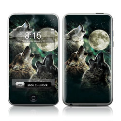 iPod Touch Skin - Three Wolf Moon