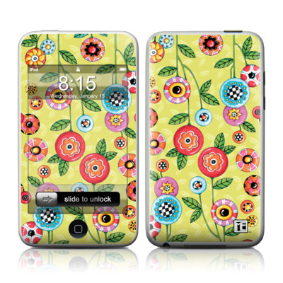 iPod Touch Skin - Button Flowers