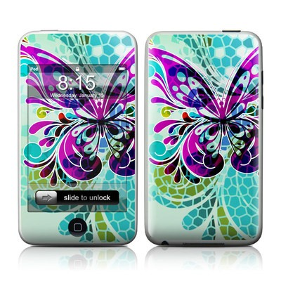 iPod Touch Skin - Butterfly Glass