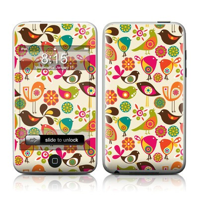 iPod Touch Skin - Bird Flowers