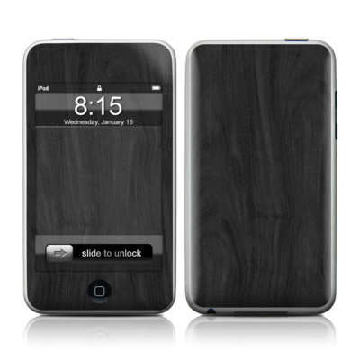 iPod Touch Skin - Black Woodgrain