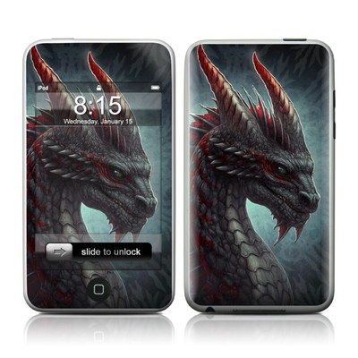 iPod Touch Skin - Black Dragon