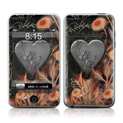 iPod Touch Skin - Black Lace Flower