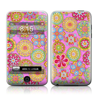iPod Touch Skin - Bright Flowers