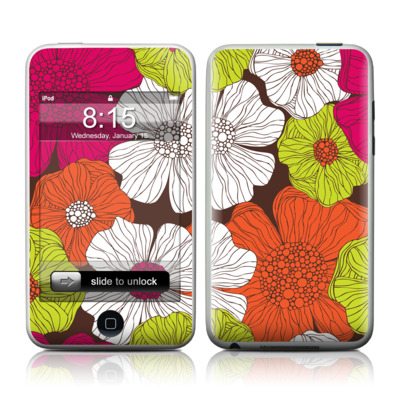 iPod Touch Skin - Brown Flowers