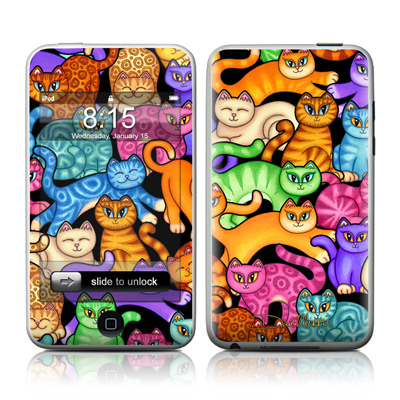 iPod Touch Skin - Colorful Kittens