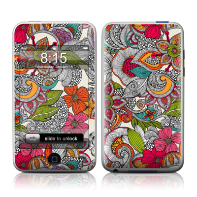 iPod Touch Skin - Doodles Color