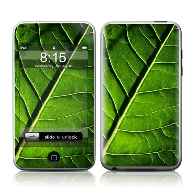 iPod Touch Skin - Green Leaf