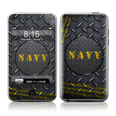 iPod Touch Skin - Navy Diamond Plate