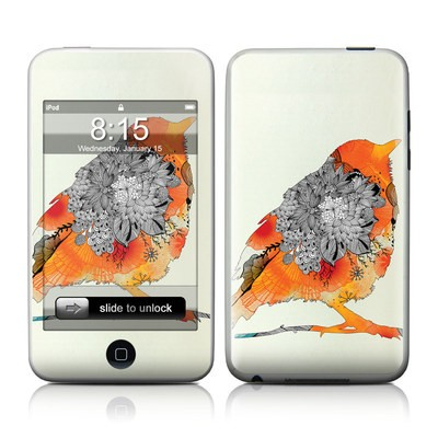 iPod Touch Skin - Orange Bird