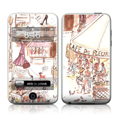 iPod Touch Skin - Paris Makes Me Happy