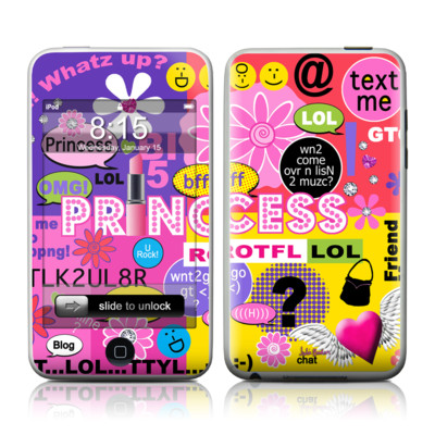 iPod Touch Skin - Princess Text Me