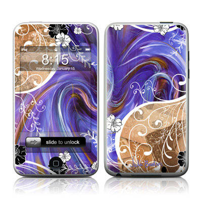 iPod Touch Skin - Purple Waves