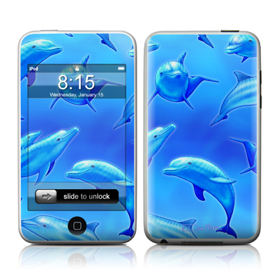 iPod Touch Skin - Swimming Dolphins