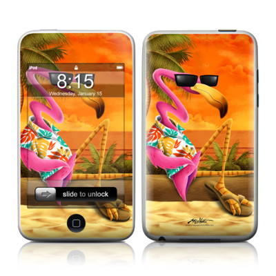 iPod Touch Skin - Sunset Flamingo