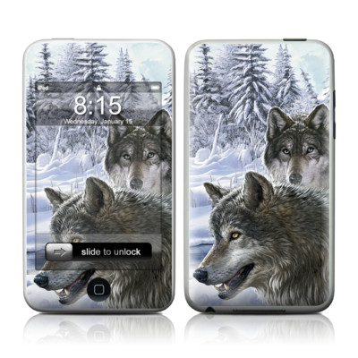 iPod Touch Skin - Snow Wolves