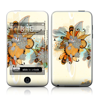 iPod Touch Skin - Sunset Flowers