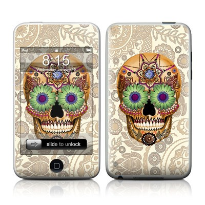 iPod Touch Skin - Sugar Skull Bone