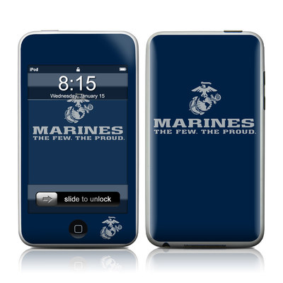 iPod Touch Skin - USMC Blue