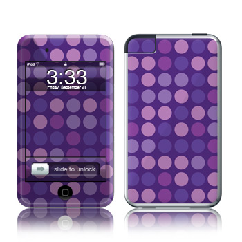 iPod Touch Skin - Dots Purple