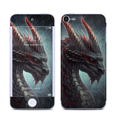 Apple iPod Touch 6G Skin - Black Dragon