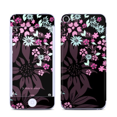 Apple iPod Touch 6G Skin - Dark Flowers
