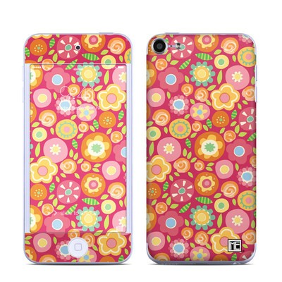 Apple iPod Touch 6G Skin - Flowers Squished