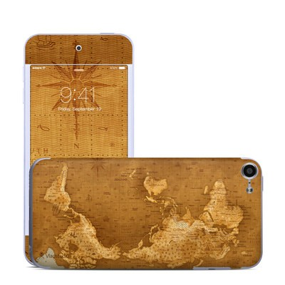 Apple iPod Touch 6G Skin - Upside Down Map