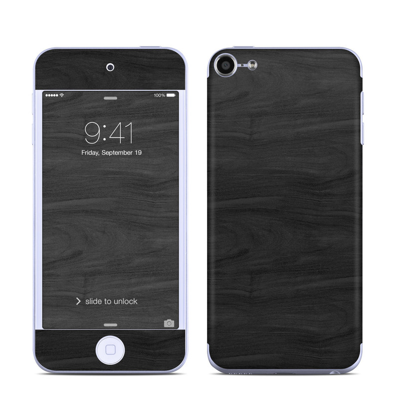 apple ipod touch 6g skin black woodgrain decalgirl. Black Bedroom Furniture Sets. Home Design Ideas