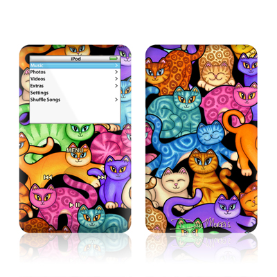 iPod Video (5G) Skin - Colorful Kittens