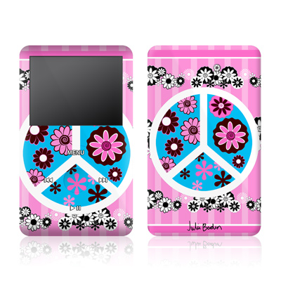 iPod Video (5G) Skin - Peace Flowers Pink